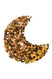 Golden crescent isolated Stock Photo