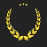 Golden crest. Gold Laurel Wreath Stock Images