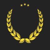 Golden crest. Gold Laurel Wreath stock illustration