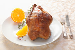Golden crisp roast chicken or duck Stock Images