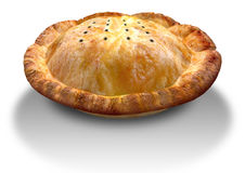 Golden Crispy Pastry Pie Perspective Royalty Free Stock Photos