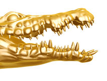 Golden crocodile Royalty Free Stock Photos
