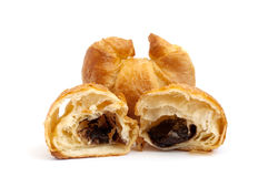 Golden croissant. On white background Royalty Free Stock Images