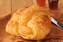 Golden croissant Royalty Free Stock Images