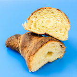 Golden croissant Royalty Free Stock Photography