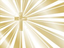 Golden cross Stock Images