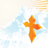 Golden cross Royalty Free Stock Photos