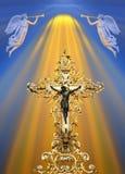 Golden cross royalty free stock image