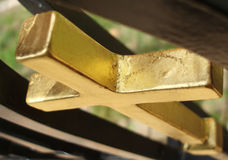 Golden cross Royalty Free Stock Photos