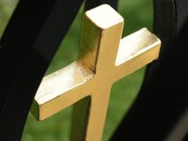 Golden cross Stock Photo