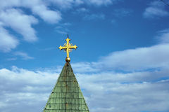 Golden cross Royalty Free Stock Photography