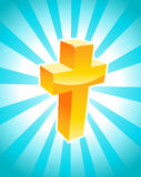 Golden Cross Stock Photos