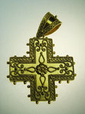 Golden cross jewel Royalty Free Stock Photography