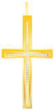 Golden cross pendent. With diomends embedded Royalty Free Stock Photos