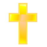 Golden cross Stock Photography
