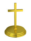 Golden cross with a stand Royalty Free Stock Photos