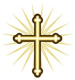 Golden cross Stock Image
