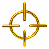 Golden crosshair icon Royalty Free Stock Image