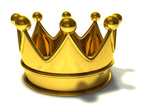 Golden Crown. Isolated on a white background Royalty Free Stock Images