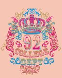 Golden crown. Beautiful gold crown on a bright background for the design vector illustration