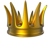 Golden crown. Isolated on white Stock Photography