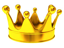 Golden crown. Isolated on white background Royalty Free Stock Photos
