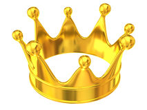 Golden crown. Isolated on white background Royalty Free Stock Images