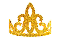 Golden crown. Golden luxury crown isolated on a white background Royalty Free Stock Photos