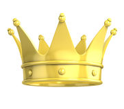 Golden crown. Over white background royalty free illustration