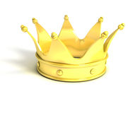Golden crown. Over white background Royalty Free Stock Images