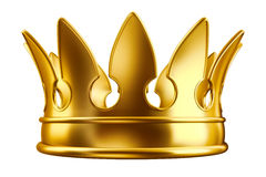 Golden crown. 3d illustration of a golden crown Royalty Free Stock Images