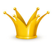 Golden Crown. Computer illustration, isolated on the white Stock Photos
