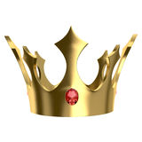 Golden crown. Isolated on white. With clipping paths Stock Images
