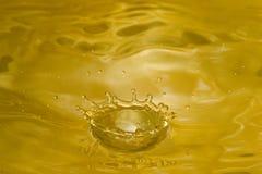 Golden Crown. Golden Liquid Crown Stock Images