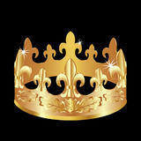 Golden crown. Royalty Free Stock Image
