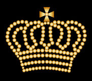Golden crown Stock Images