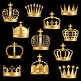 Golden crown. Royalty Free Stock Photo