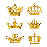 Golden crown background Stock Photos