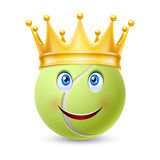 Golden crown on  ball for tennis Stock Image