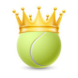 Golden crown on  ball for tennis Royalty Free Stock Photo
