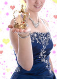 Golden crown of a carnival princess or queen Royalty Free Stock Images