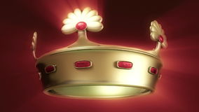 Golden crown 3D Royalty Free Stock Photography
