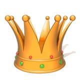Golden crown 3d illustration Royalty Free Stock Image