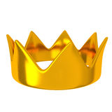 Golden crown, 3d Stock Image