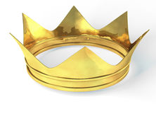 Golden crown. 3d rendering isolated on white background Royalty Free Stock Image