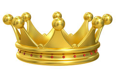 Golden Crown, 3D rendering Royalty Free Stock Photography