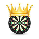 Golden crown on Dart Board Royalty Free Stock Images