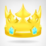 Golden crown with diamonds object isolated Stock Image