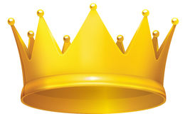 Golden crown. In  format on white background Royalty Free Stock Photo