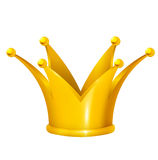 Golden crown. In  format on white background Royalty Free Stock Photography
